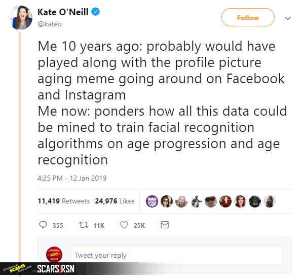 Twitter Post About The 10 Year Challenge