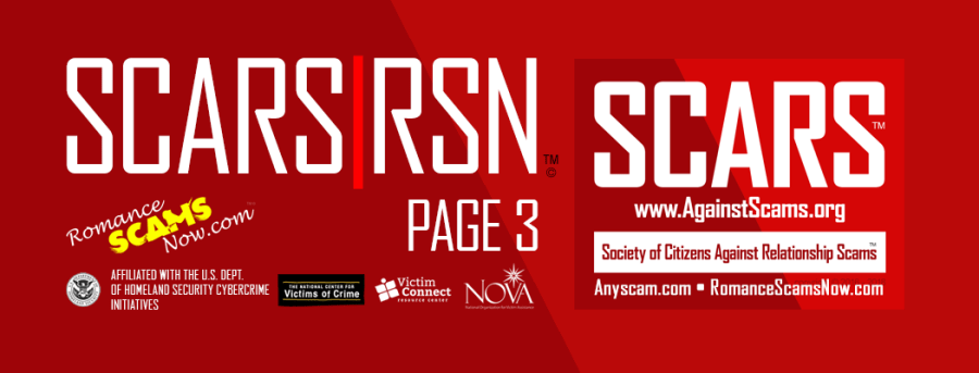 SCARS|RSN Romance Scams Now : Information Page #3