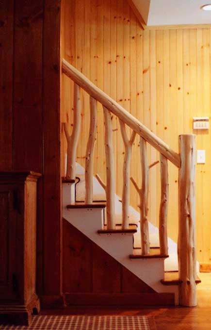 Rustic Interior Furniture  Unique Staircase Railings