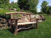Outdoor Rustic Benches | Park Benches | Patio Furniture ...