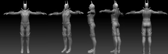 High Poly Clothed Turnaround