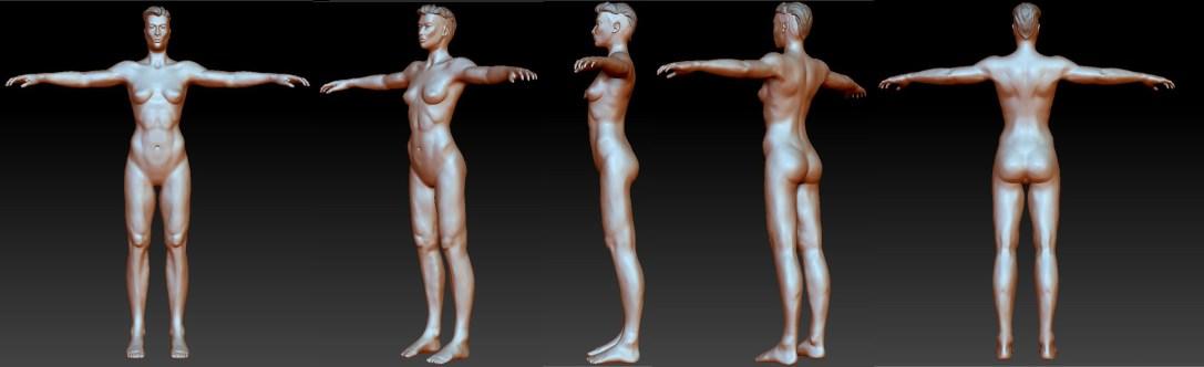 Highpoly Nude Turnaround