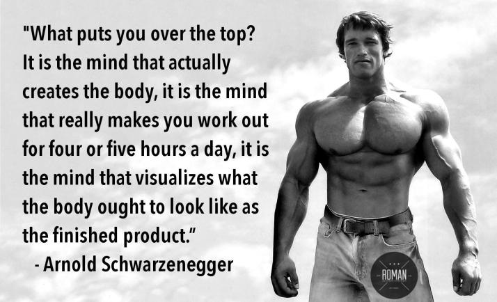 arnold mind muscle connection quote