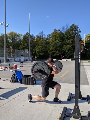 Barbell Front Rack Reverse Lunge