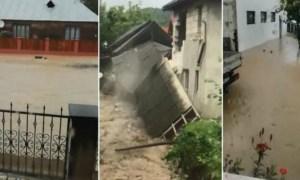 (Video) Inundații în Săliștea de Sus, Maramureș, după o ploaie torențială. Apa coborâtă de pe versanți a inundat mai multe drumuri și gospodării 45