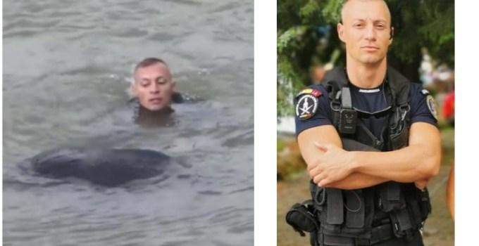 """El este jandarmul român care a salvat o tânără mămică de la înec: """"Să ne trăiești, Andrei! Pentru noi ești un erou!"""" 17"""