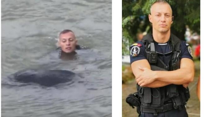 """El este jandarmul român care a salvat o tânără mămică de la înec: """"Să ne trăiești, Andrei! Pentru noi ești un erou!"""" 1"""
