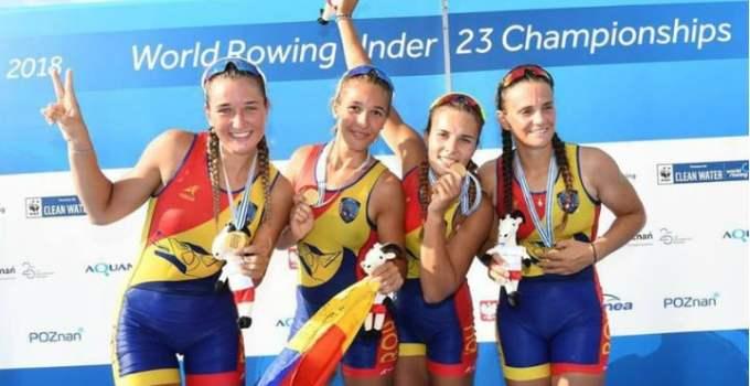FELICITĂRI! Două medalii de aur, două de argint și una de bronz pentru România la CM de tineret de canotaj 3