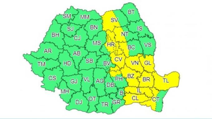 Alertă de caniculă în România. 15 județe, sub cod galben de ploi torențiale, grindină și vijelii 1