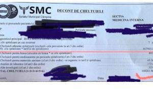 De asta era nevoie internarea asimptomaticilor?! Cheltuieli 35.000 de euro/ pacient într-o săptămână. 49 de lei mâncare (7 lei pe zi...), 43 de lei medicamente. Restul? 33
