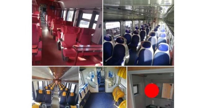 (Foto) Și CFR poate! Cam așa arătau vagoanele din cele 10 trenuri Regio si Interregio alocate azi suplimentar pe Valea Prahovei, înainte de plecarea in cursă 20