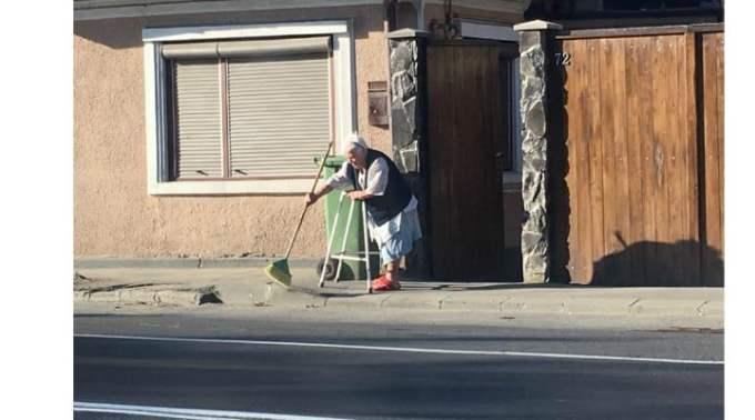 """(Video)  """"Ora 8 dimineața. Făgăraș. O bunicuță sprijinită de un cadru ajutător mătură domol trotuarul din fața casei. Comentariile sunt de prisos"""". Vezi ce mai spune cea mai tânără femeie primar din România: 3"""