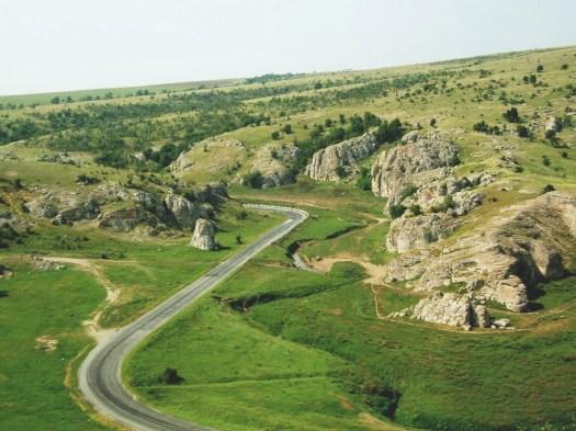 beautiful romanian landscape oldest limestones dobrogea near black sea romania