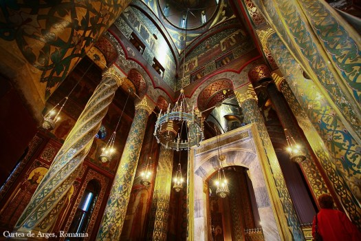 Curtea de Arges cathedral interior romania eastern europe christian orthodox churches