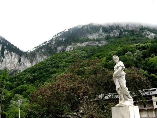 Baile Herculane beautiful Romania scenery Carpathian mountains eastern europe