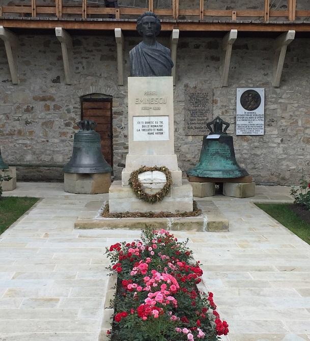 Mănăstirea Putna (jud. Suceava) - Bustul lui Mihai Eminescu