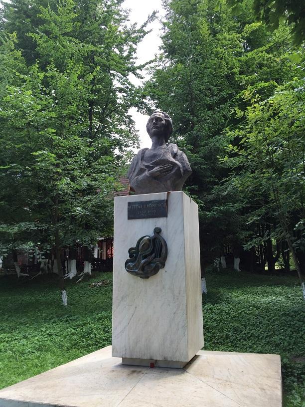 Bustul lui Mihai Eminescu - Parcul Municipal (Vatra Dornei, jud. Suceava)