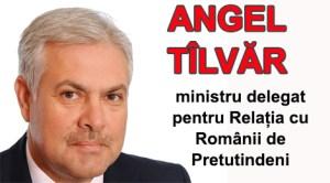 Angel Tîlvăr, ministru delegat pentru Relația cu Românii de Pretutindeni