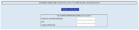 Solicitare semnătură digitală pentru votul online