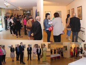 Imagini de la Expoziţia de pictură româno-spaniolă de la Casa de Cantabria