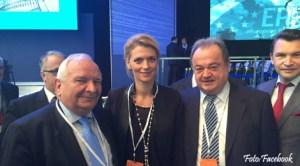 Alina Gorghiu şi Vasile Blaga la reuniunea PPE de la Madrid