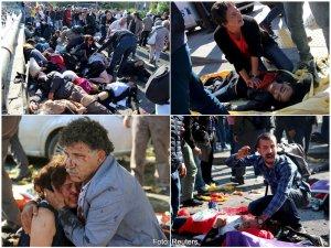 Imagini de la atentatul din Ankara