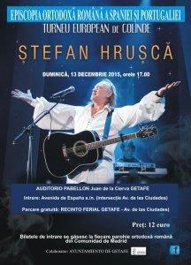 Afiş concert Ştefan Hruşcă