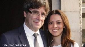 Carles Puigdemont şi Marcela Topor