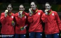 Echipa feminină de spadă a României, medaliată cu aur la Rio