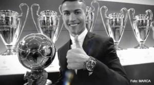 Cristiano Ronaldo con el Balon de Aur 2016