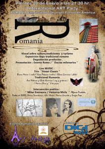 Afiş eveniment cultural de promovare a României la Hotel Silken Puerta America din Madrid