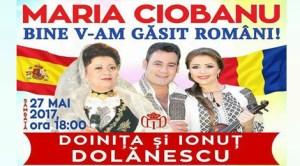 Spectacol extraordinar cu Maria Ciobanu şi cu Doina şi Ionuţ Dolănescu în oraşul madrilen Alcalá de Henares