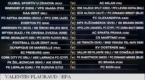 Turul al treilea preliminar al Europa League 2017 la fotbal