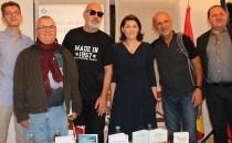 """Serile culturale """"Acasă la Ambasadă"""" cu scriitorii români Radu Pavel Gheo, Radu Aldulescu, Ioan T. Morar, şi Cornel George Popa"""