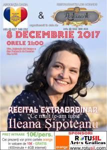 Afiş concert Ileana Şipoteanu în Mejorada del Campo