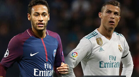 Neymar Jr şi Cristiano Ronaldo