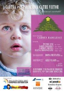 """Afişul Galei """"Cartea – ușă deschisă către viitor""""pentru un Crăciun 2017 solidar"""