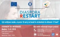 Prezentarea proiectului Diaspora ReStart la Madrid. Află cum poţi primi 40.000 € nerambursabili pentru a deschide propria afacere în România