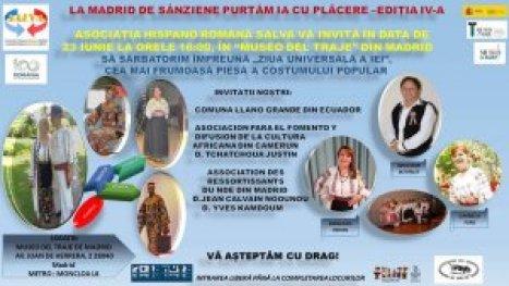 Afiş ediția a IV-a a festivalului La Madrid de Sânziene purtăm ia cu plăcere