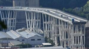 Pod de autostrdă prăbuşit în Italia