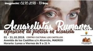 Expoziţie de pictură în acuarela Acuarelistas Rumanos în Alcorcón