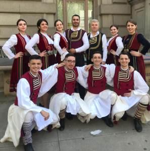 Stelian Arau şi Ansamblul de dansuri Pilisterlu la Festivalul Romania Day on Broadway 2019