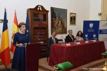 Gabriela Dancău la suita de evenimente organizate la Palatul Regal din Madrid