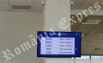 Ecran cu numere de ordine la Consulat
