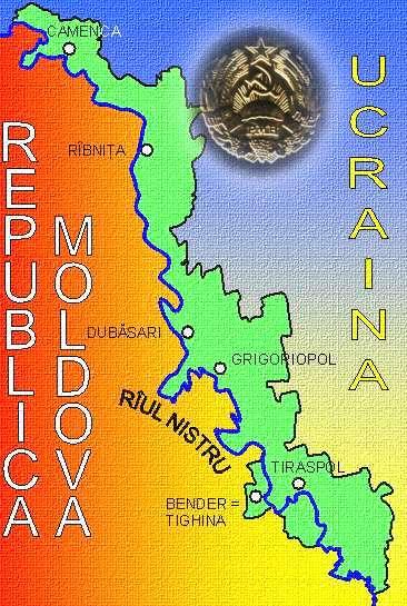 Harta auto-proclamatei Republici Transnistrene