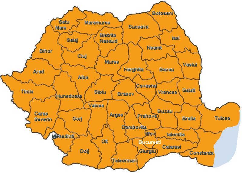 Judetele Romaniei Romaniei Harta Romaniei