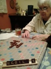 scrabble with mom