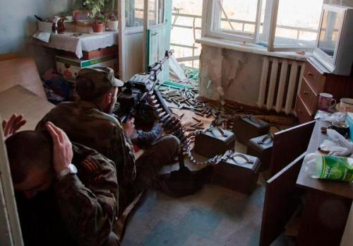 Russian-Militant-MG-in-Apartment