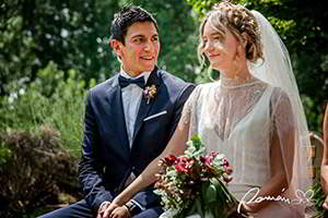 fotos de la boda civil en Hoyuelos