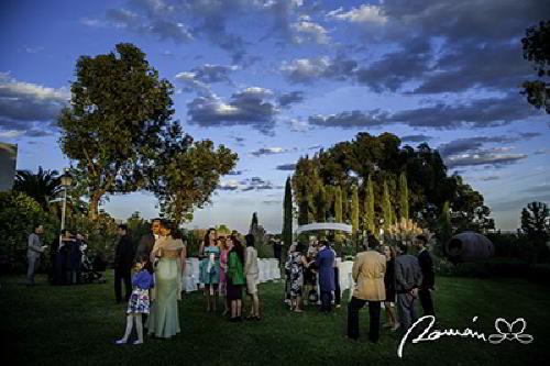 Jardines de la finca Las Bocas en una boda civil
